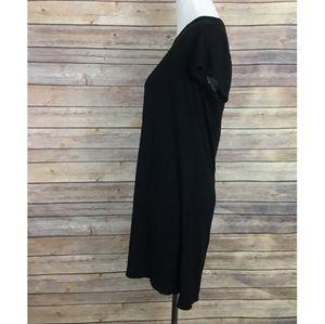 Olivia Rae black Tee Shirt Dress Large